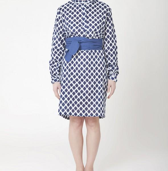 1698-Polo Dress + Obi Belt