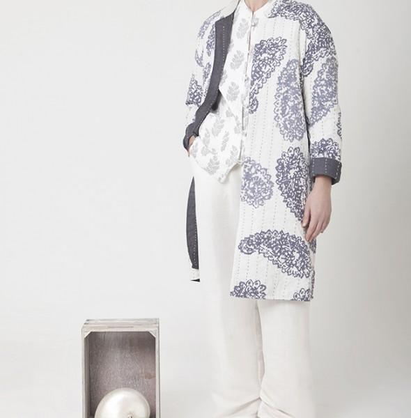 2067 Long Jacket Kantha
