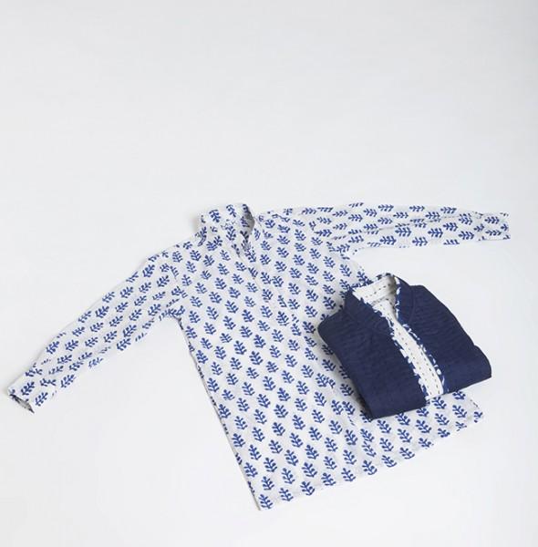 2838 Polo Dress + Jacket Kantha Baby
