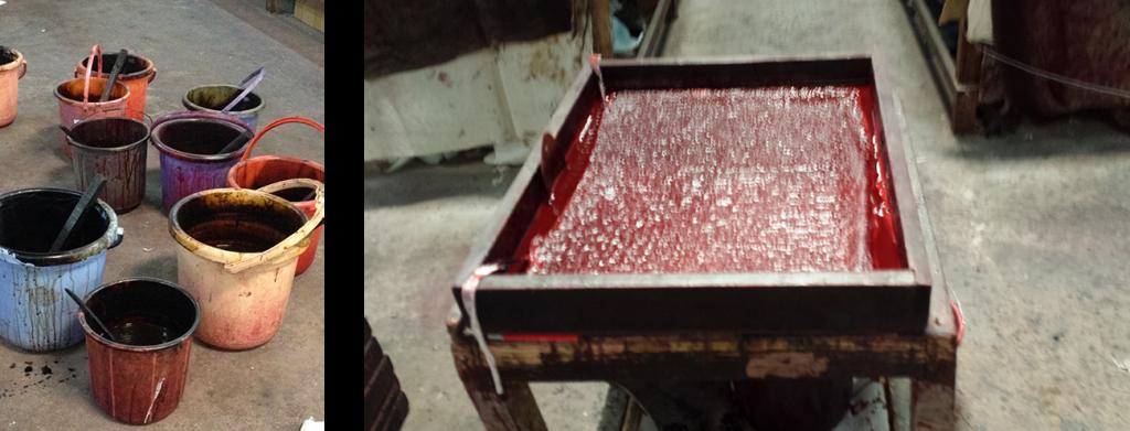 vasca colore block print